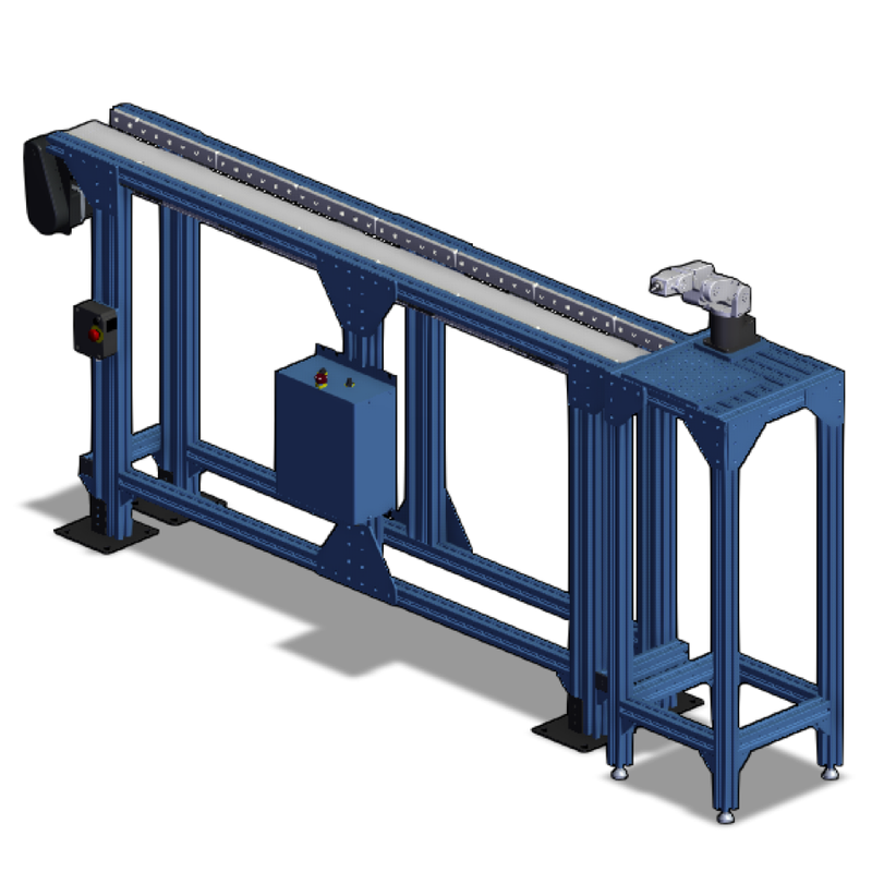 Conveyor Workstation with Meca500