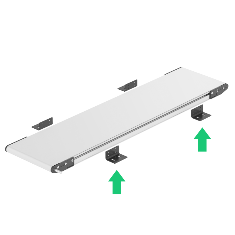 Vention X Dorner installiong belt conveyor brackets