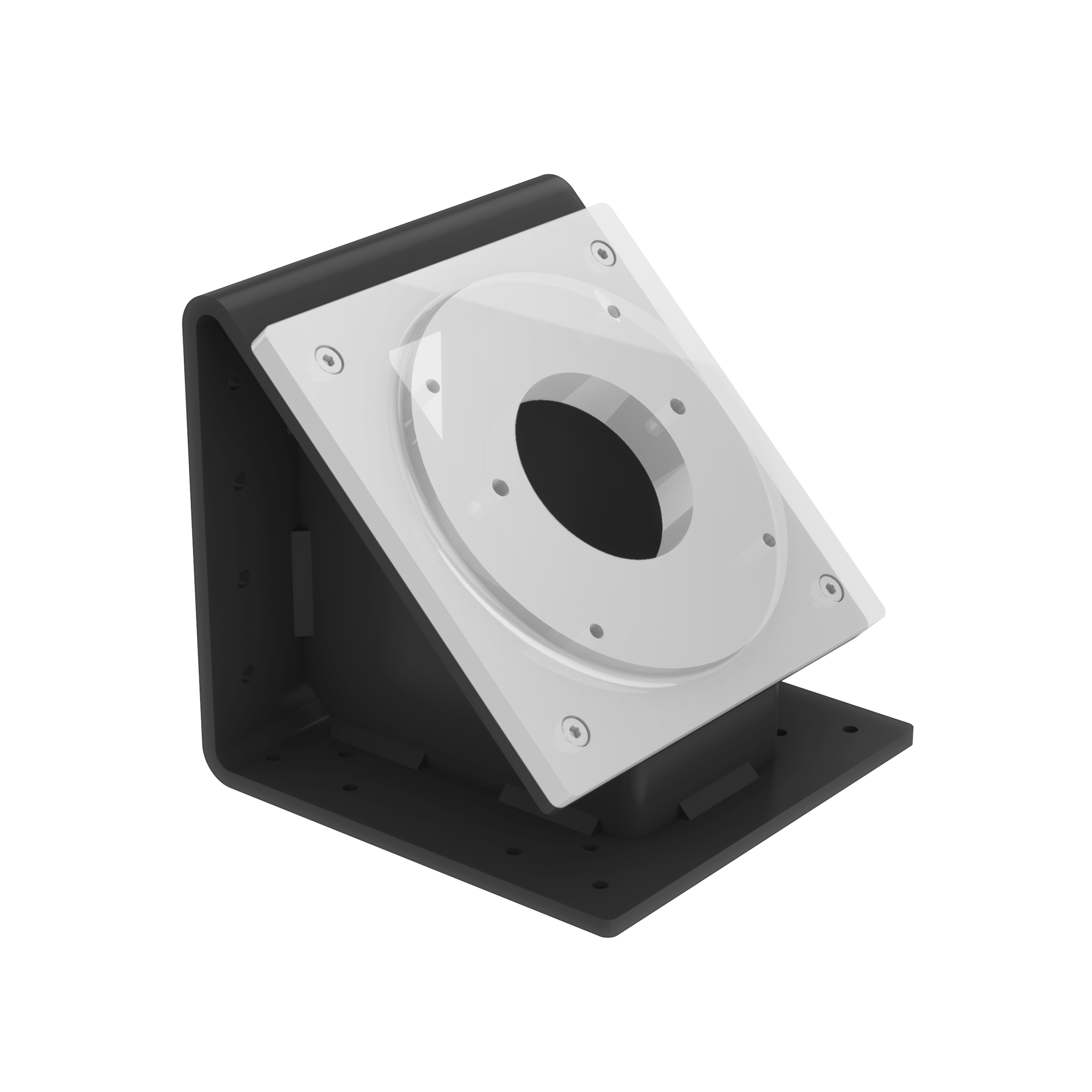 The 45 degree mounting option is shown above.