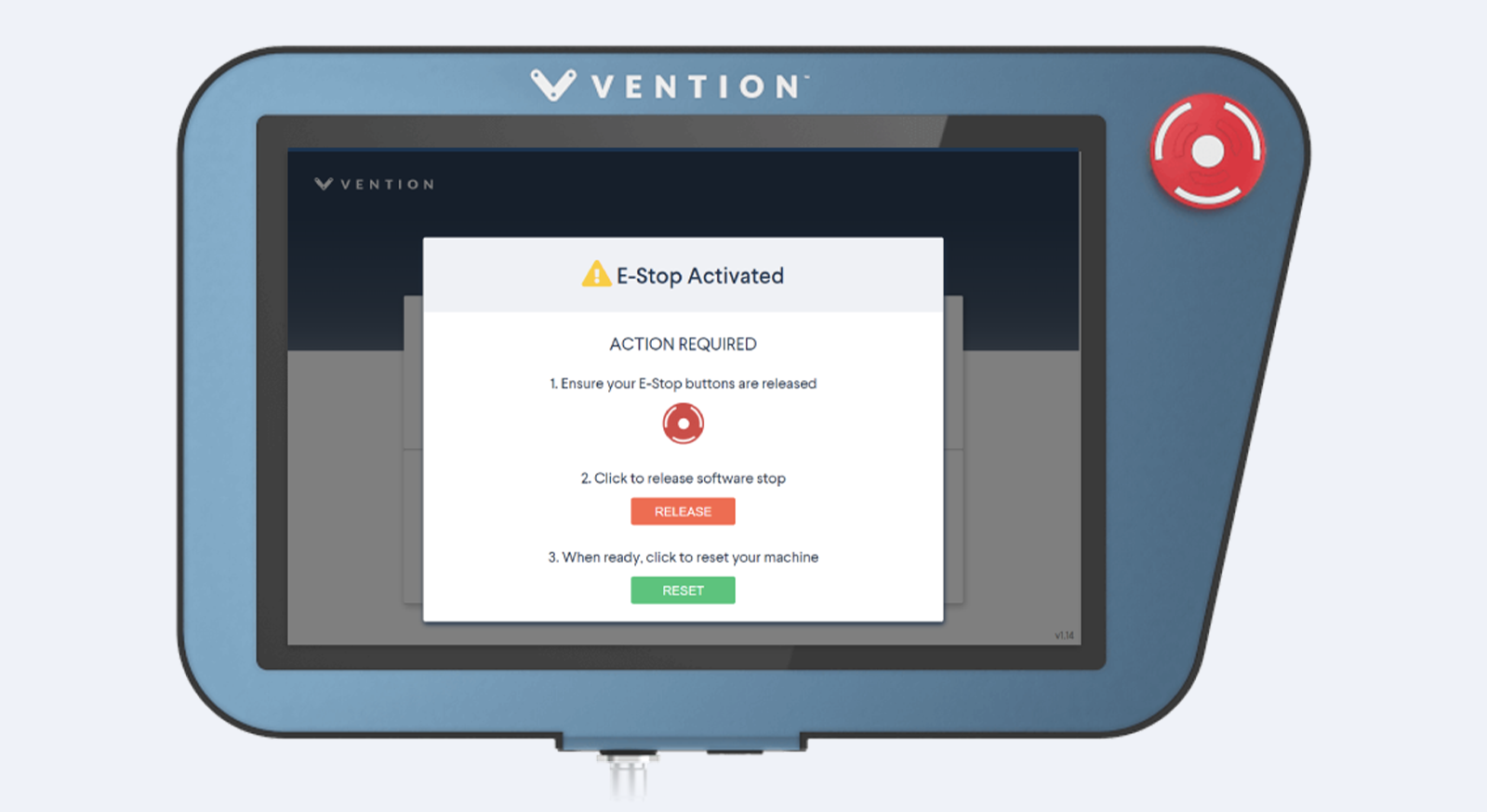 Vention Software Stop Feature