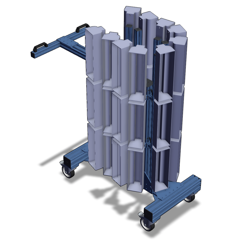 Vention Mobile carts for UVC  disinfection lamps