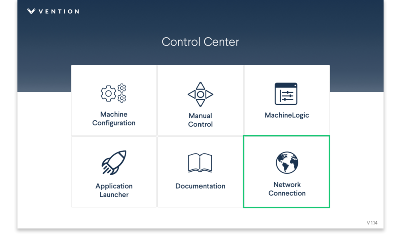Figure 11: MachineMotion Control Center main menu