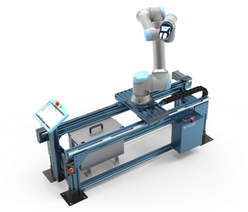 Figure 1: UR10 mounted on a 7th axis Range Extender