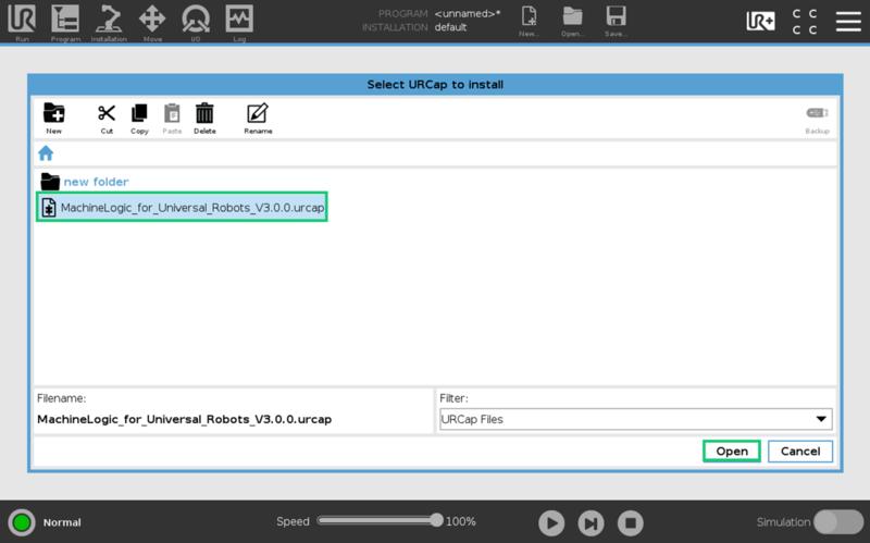 Figure 4: Adding the URCap file