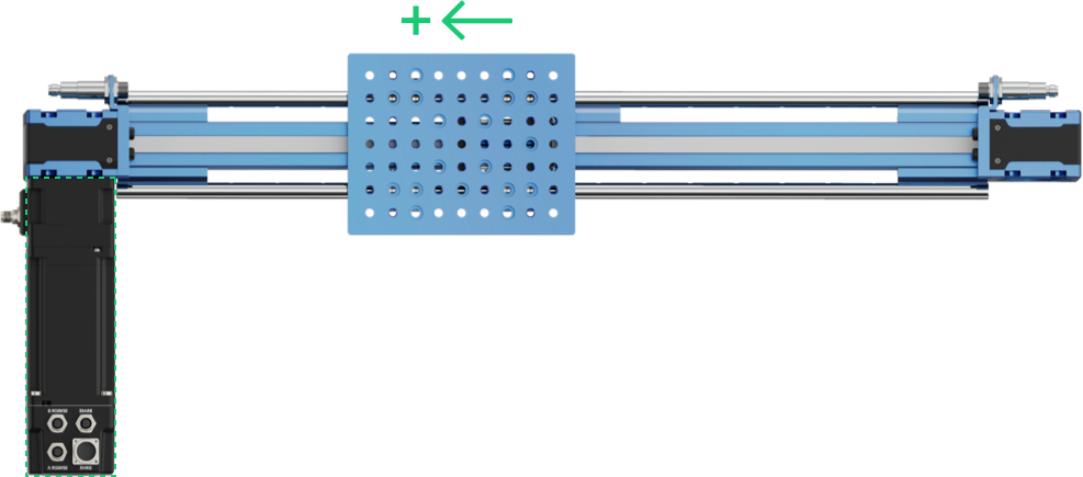 Figure 12: Actuator direction based on motor direction