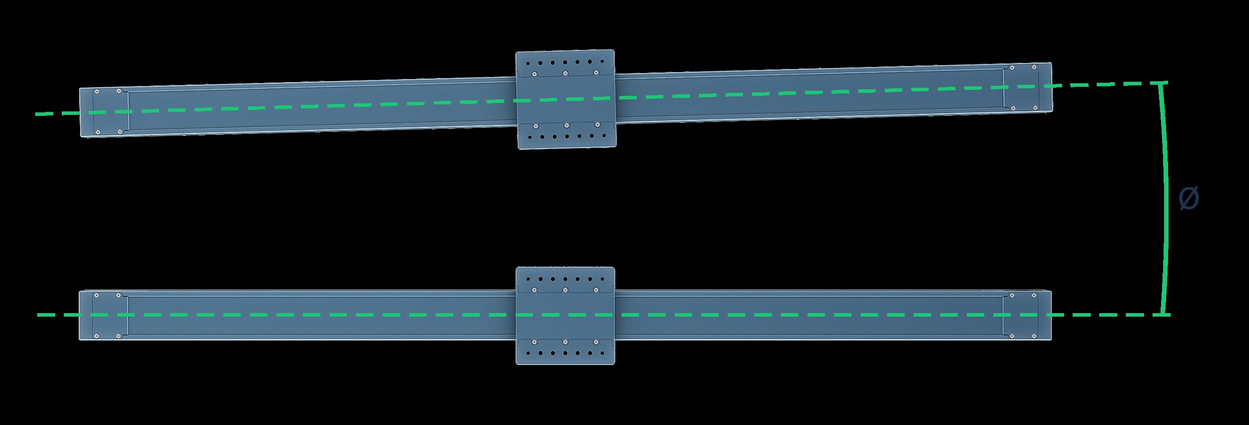 Figure 4: ϴ represents the angular misalignment from horizontal.