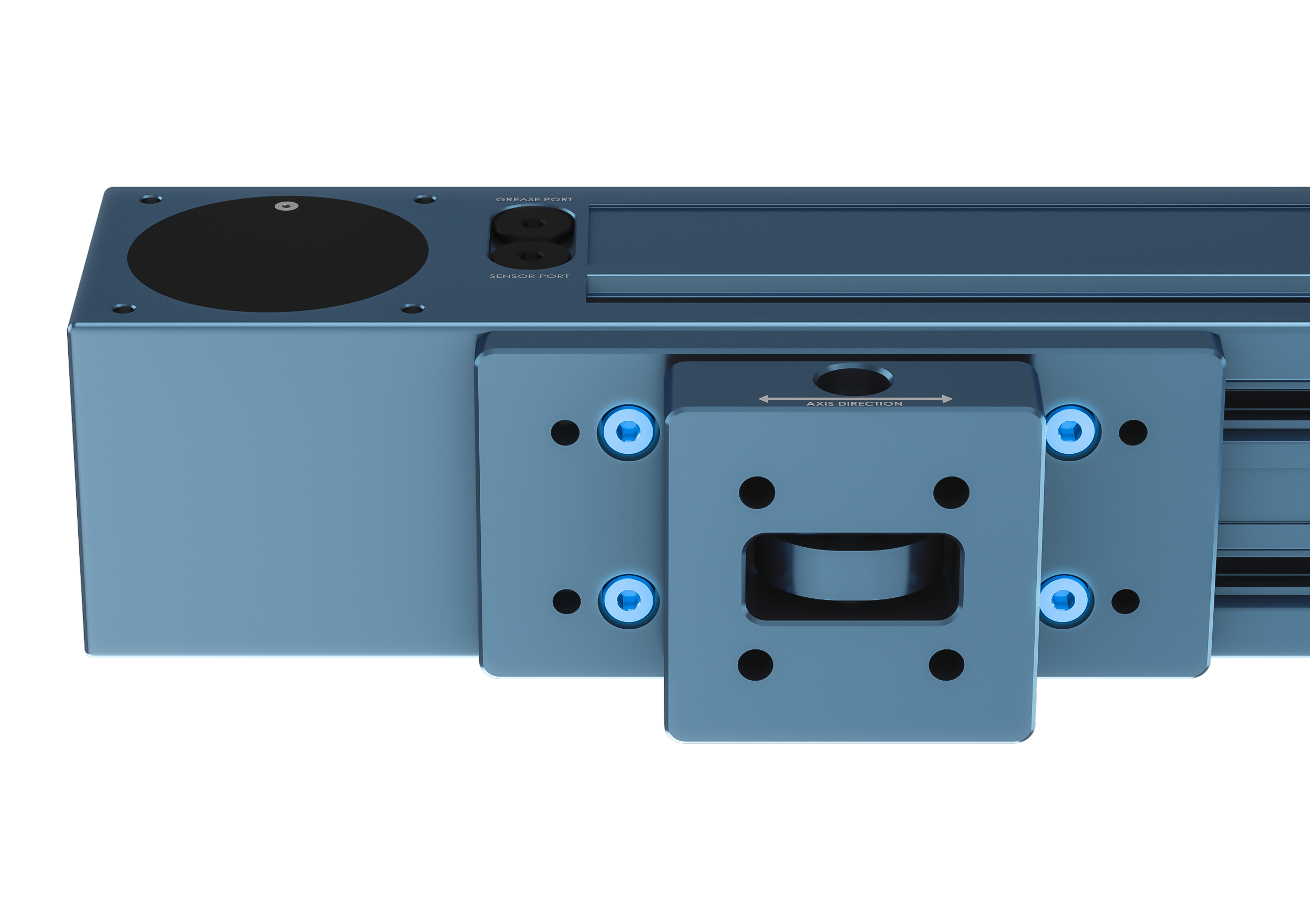 Figure 10: Close-up view of the mount attached directly to the actuator via t-slots.