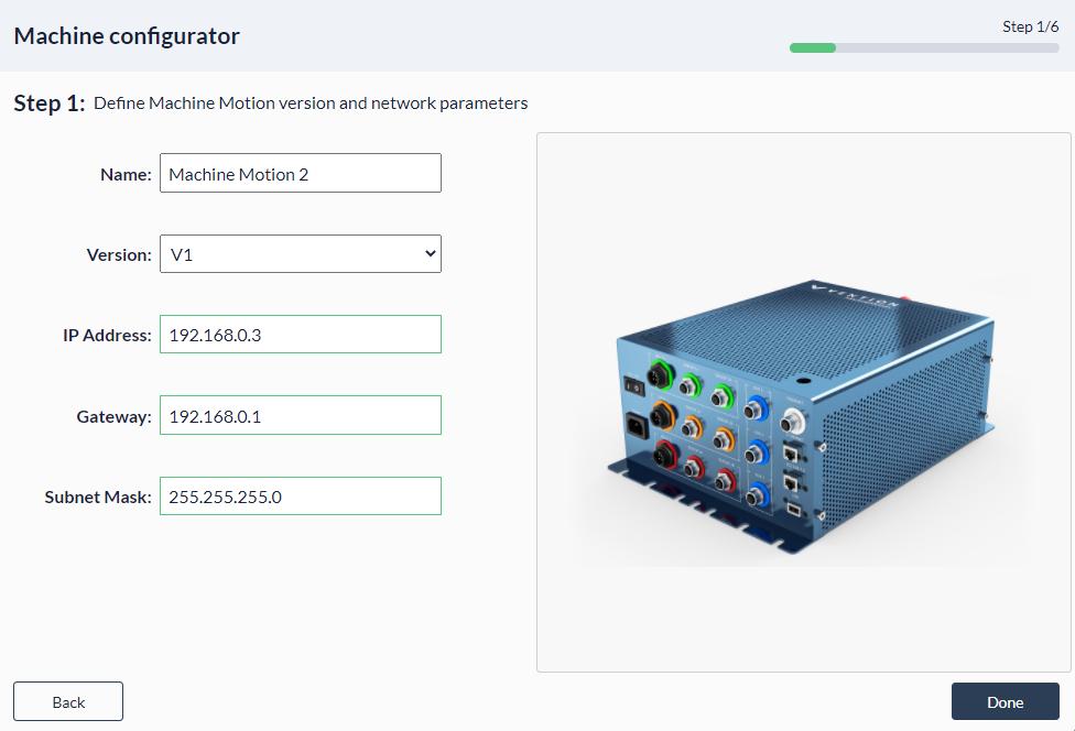 Figure 6: Palletizer MachineApp: Configuring child controller
