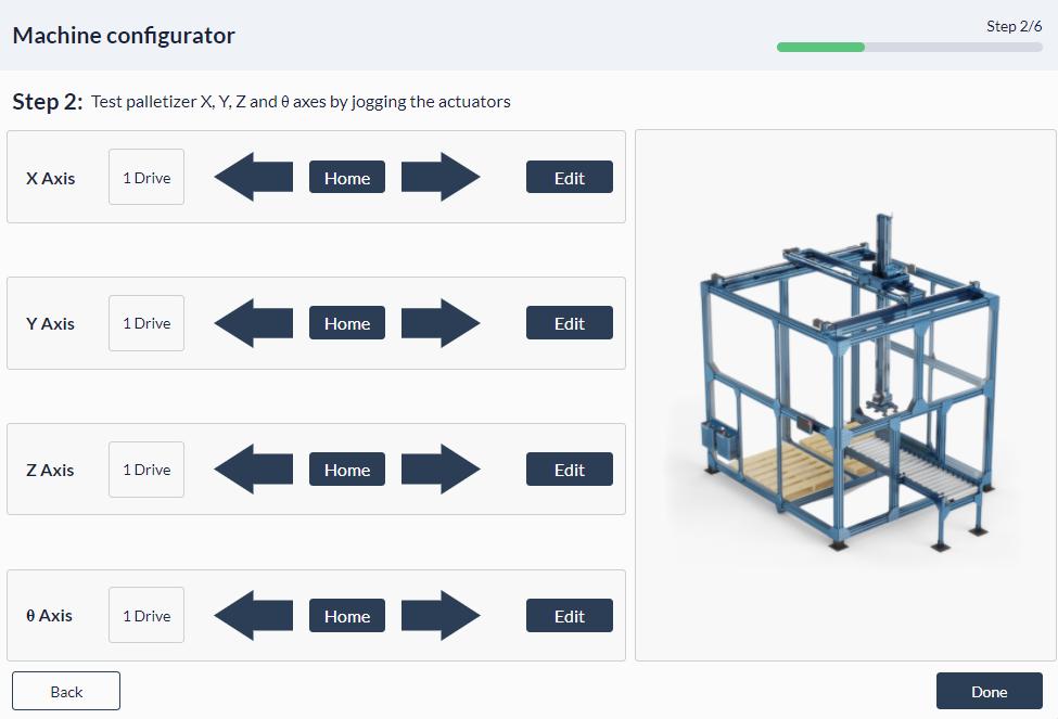 Figure 13: Palletizer MachineApp: Configuring θ-rotary actuator