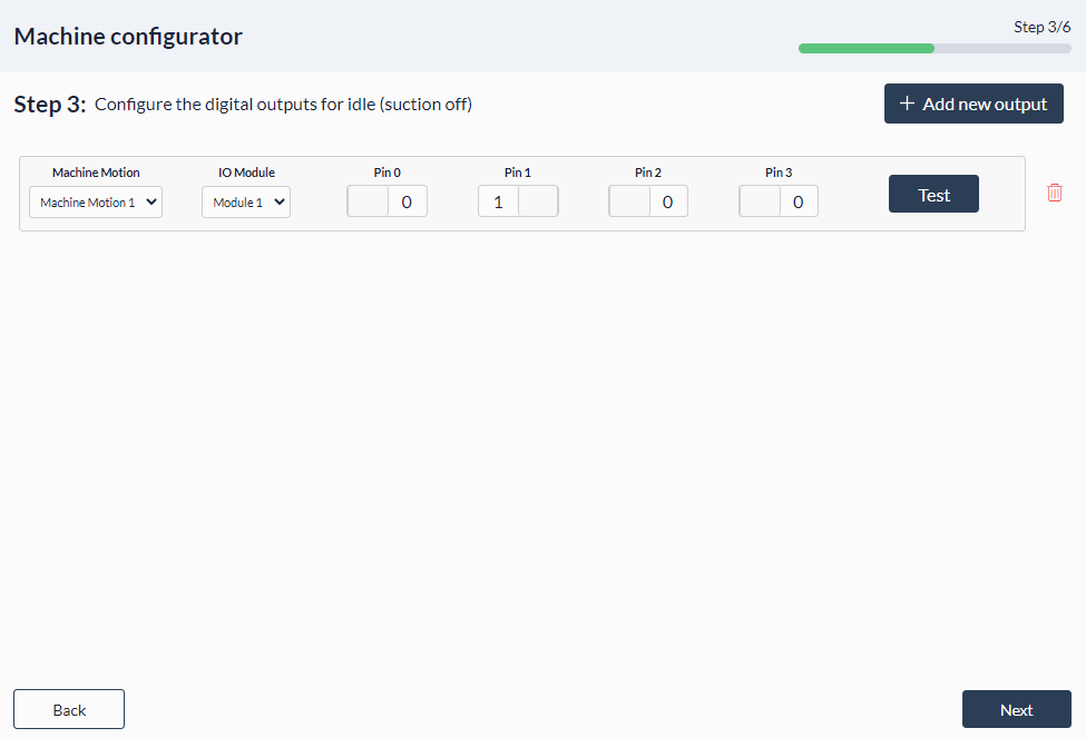 Figure 14: Palletizer MachineApp: Idle setting for EOAT(suction off)