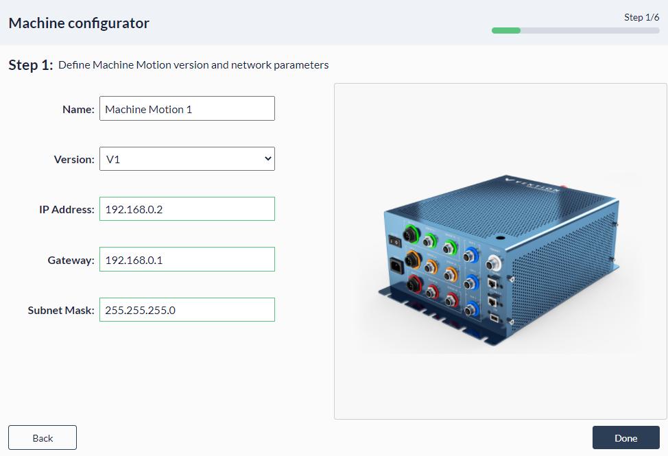 Figure 5: Palletizer MachineApp: Configuring parent controller