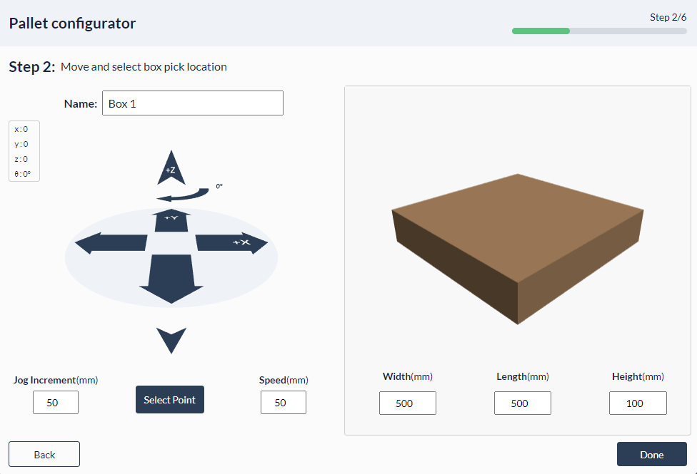 Figure 23: Palletizer MachineApp: Configuring box size