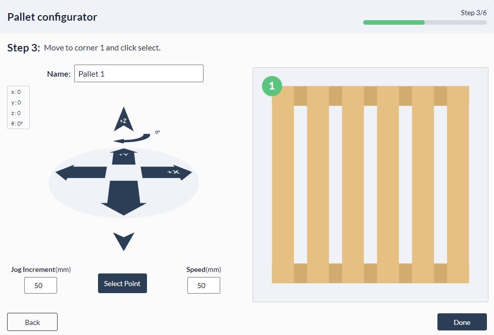 Figure 26: Palletizer MachineApp: Teaching first corner of your pallet