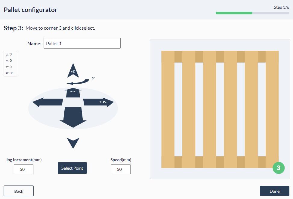 Figure 28: Palletizer MachineApp: Teaching final corner of your pallet
