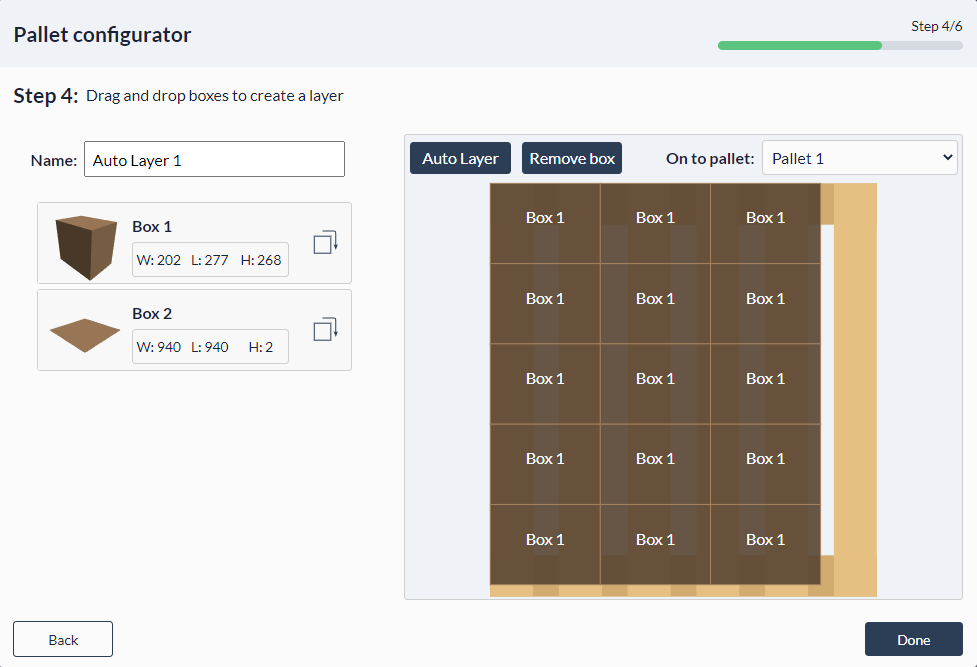 Figure 30: Palletizer MachineApp: Configuring pallet layers