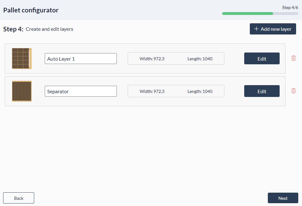 Figure 33: Palletizer MachineApp: Add new layer patterns