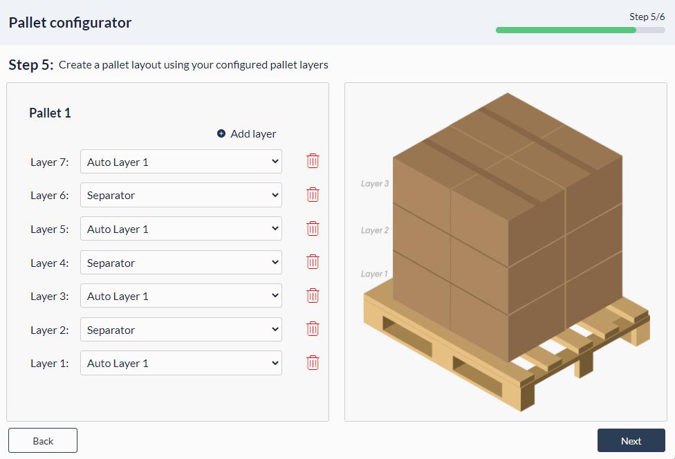 Figure 34: Palletizer MachineApp: Configure pallet layout