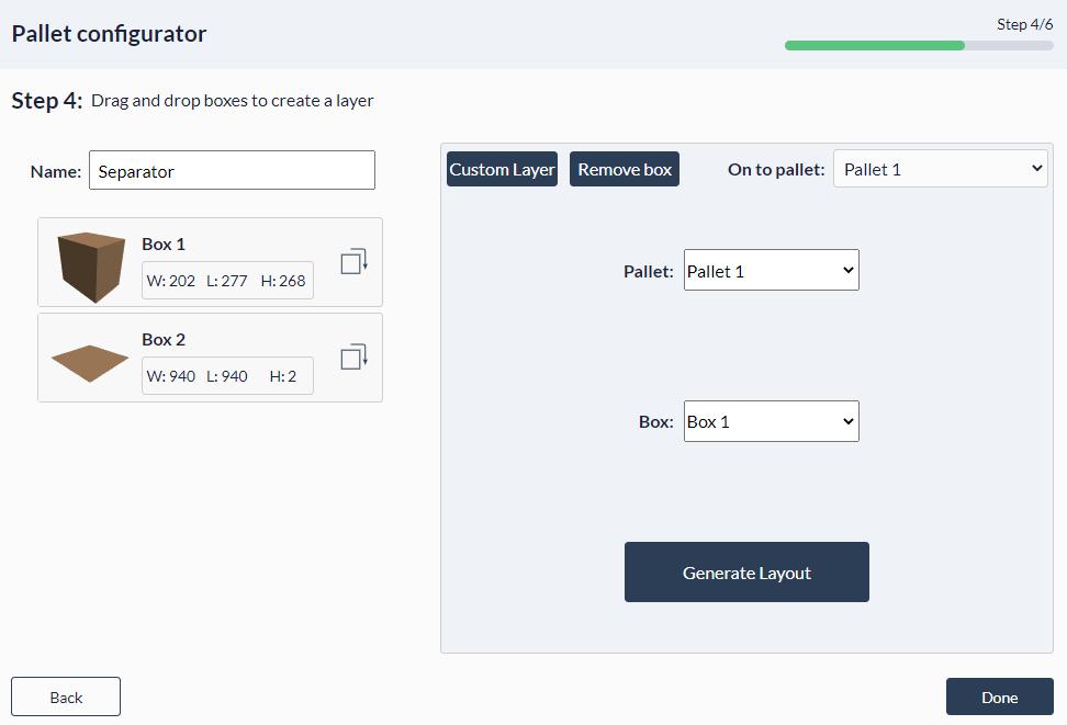 Figure 32: Palletizer MachineApp: Auto layers