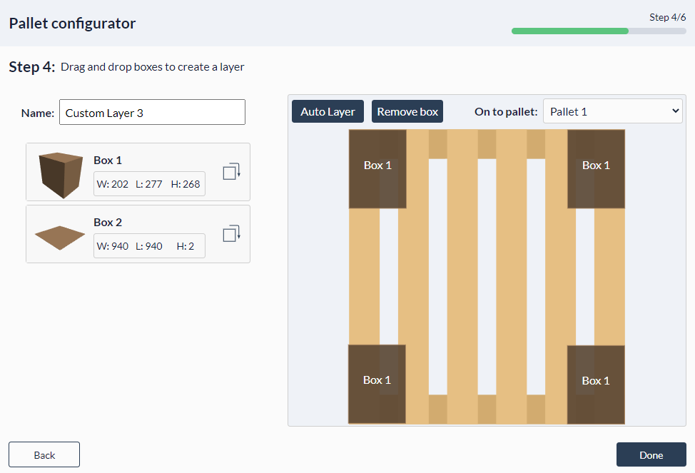 Figure 31: Palletizer MachineApp: Recommended first configured pallet layers