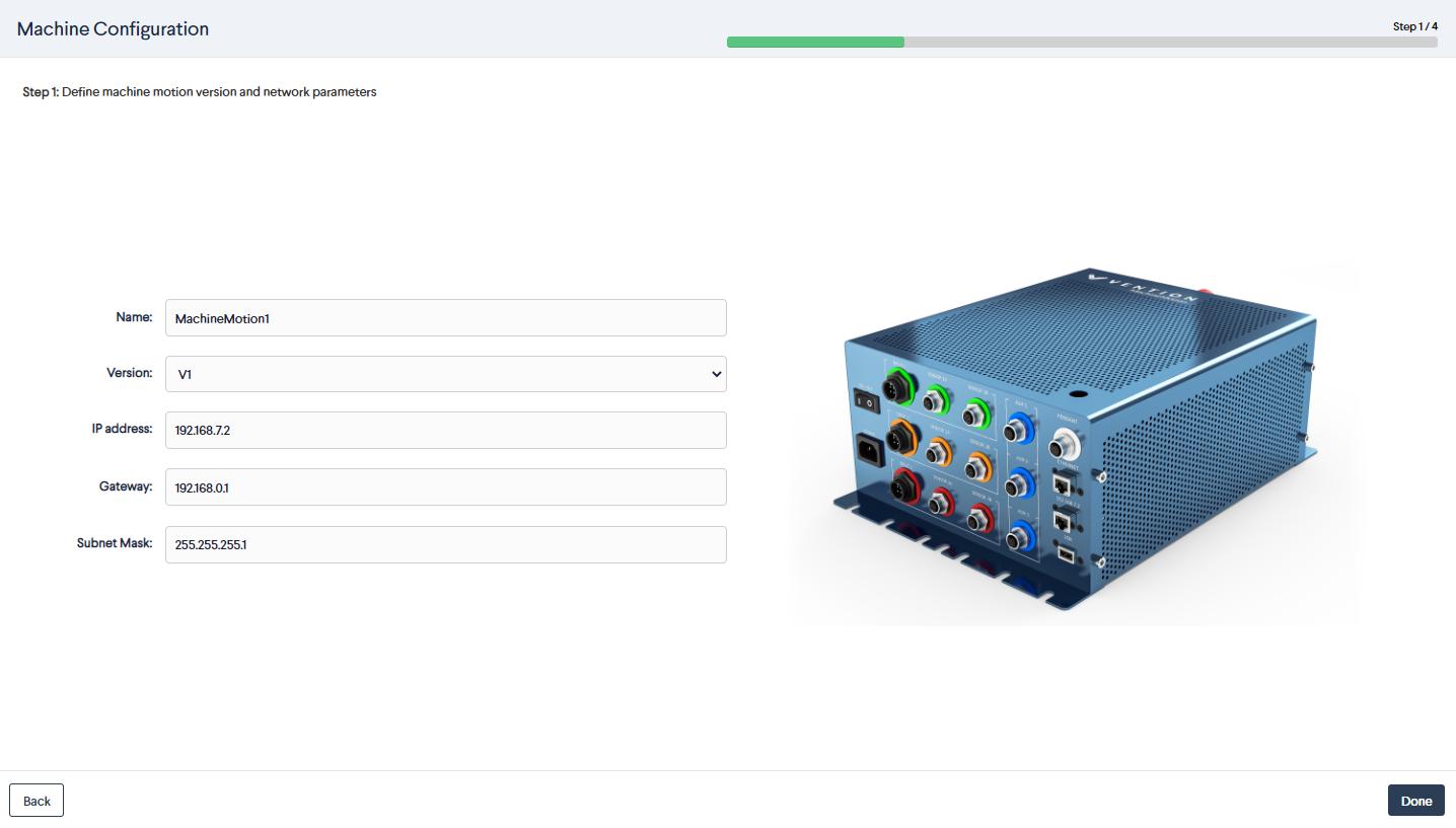 Figure 5: Path following MachineApp: Configuration controller