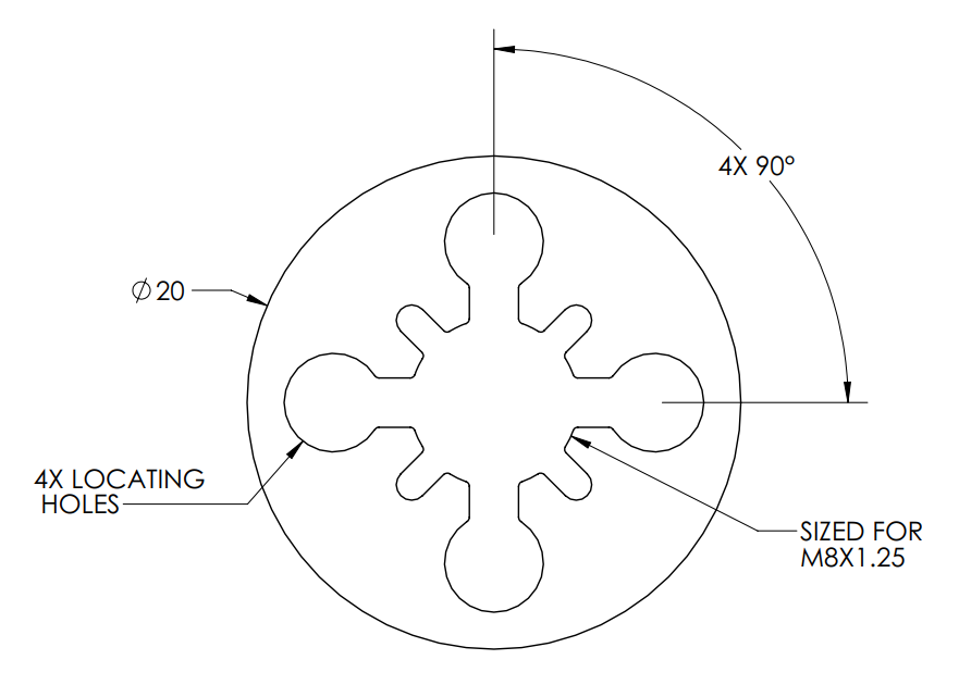 Round extrusion section.