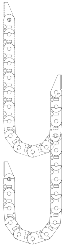Hanging drag chain example.