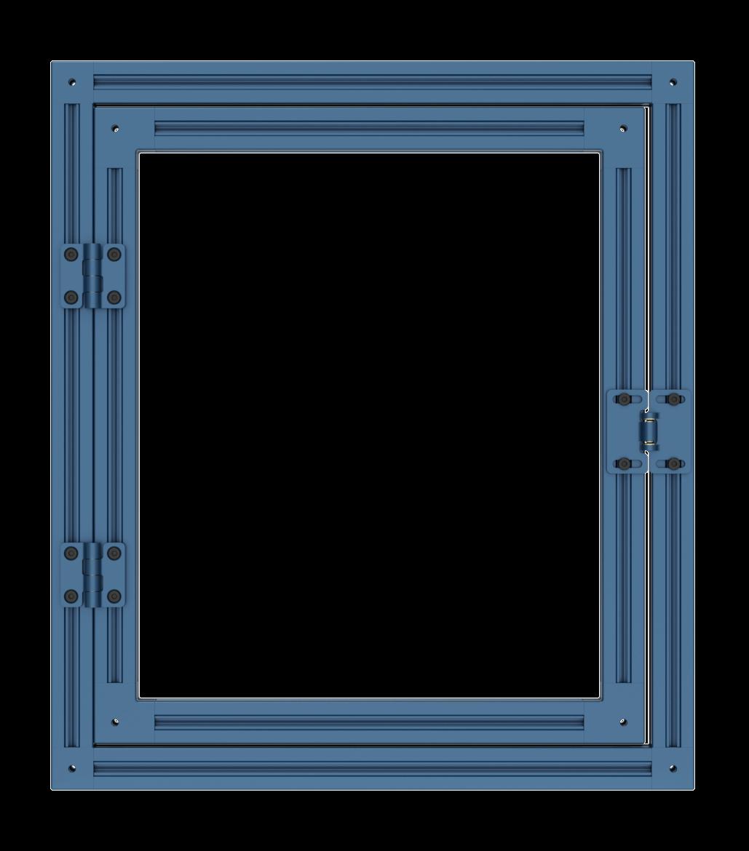 Non-rigid door with interlocking part