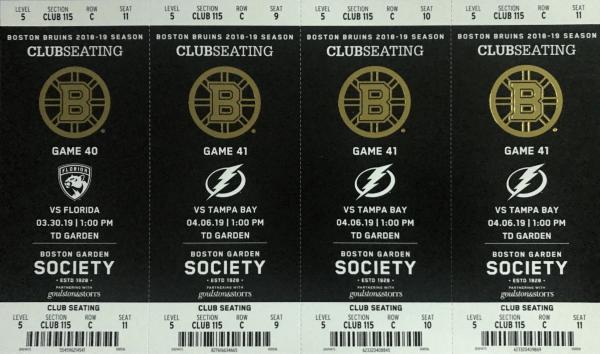 Boston Bruins Tickets TD Garden