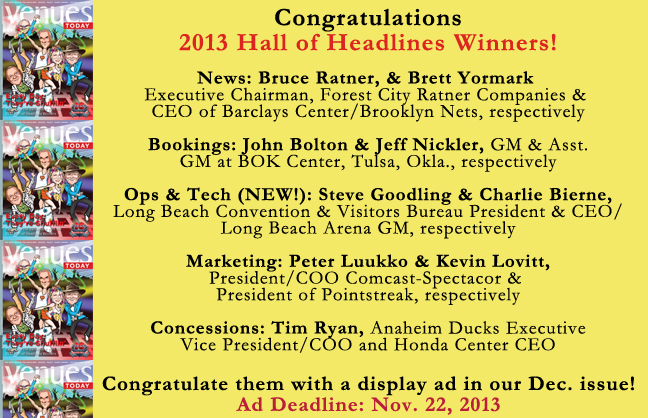 Congratulations 2013 Hall of Headlines Winners!