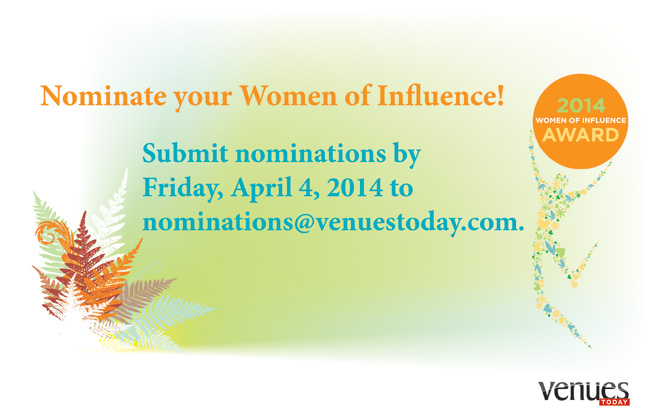 Nominate your 2014 Women of Influence!