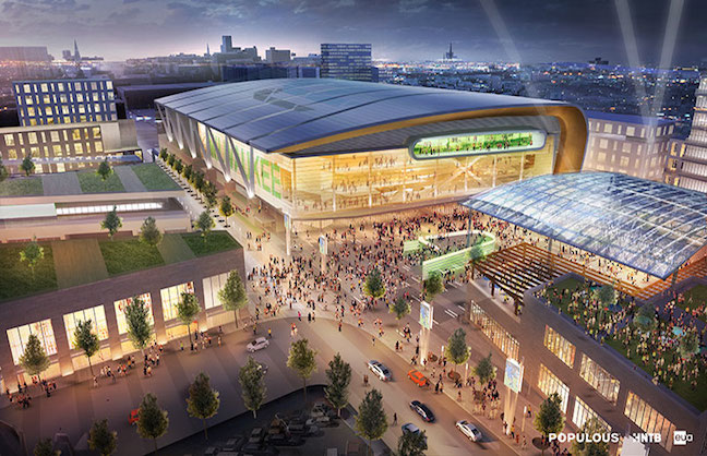 Bucks Unveil Renderings for $1-Billion Arena District