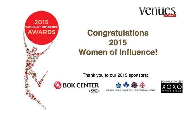 Congratulations 2015 Women of Influence!
