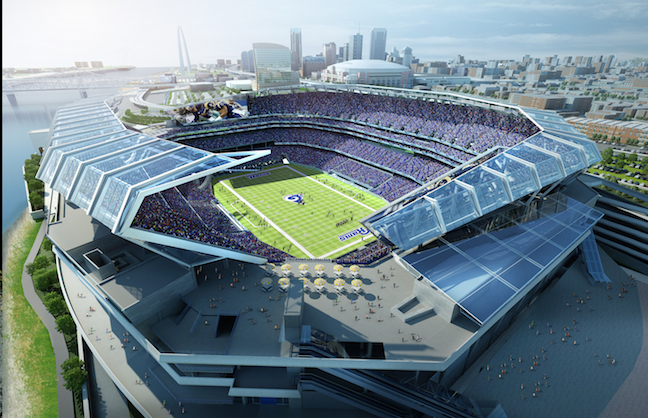 Initial Design Complete for New St. Louis Football Stadium