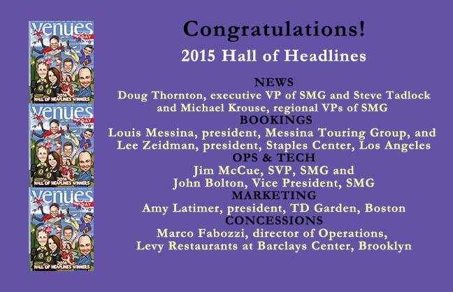 Congratulations 2015 Hall of Headlines Recipients!