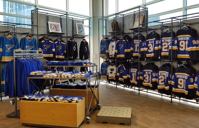 Blues Add Space For Merchandise