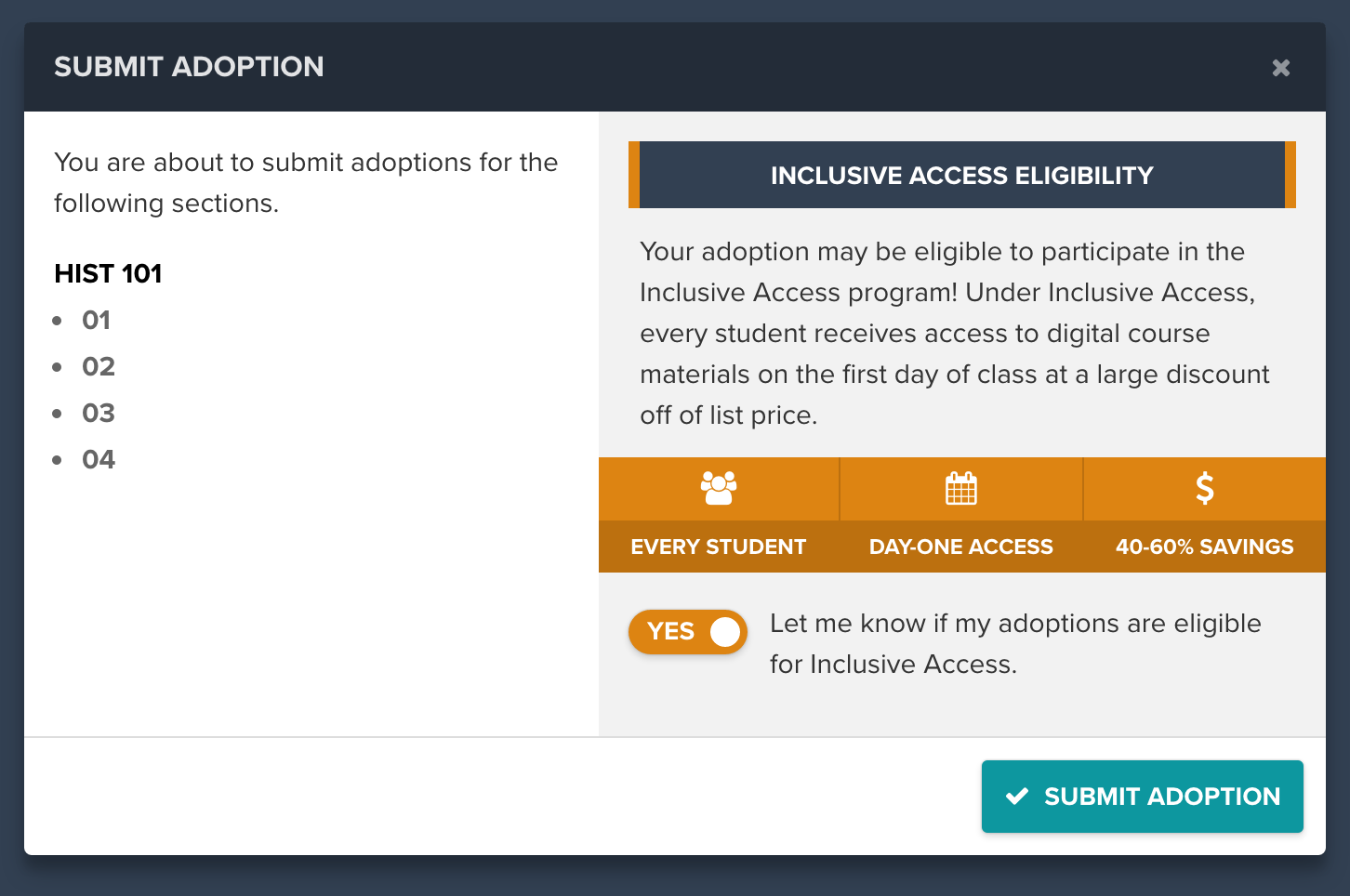 Capture Inclusive Access interest at the point of adoption with Verba Collect.