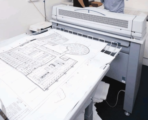 bouwtekeningen printen