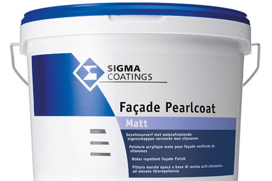 buitenmuur verf sigma Facade Pearlcoat matt