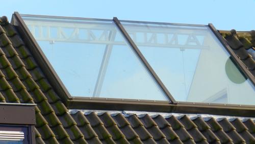 Glazen dak cre er uitzicht daglicht en ruimte - Glazen dak dak glijdende ...