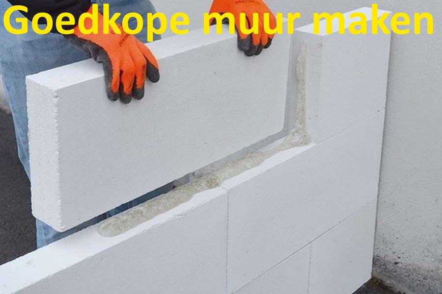 goedkope muur maken