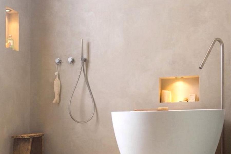 Cement Stucen Badkamer : Microbeton en microcement badkamer keukenblad prijzen en