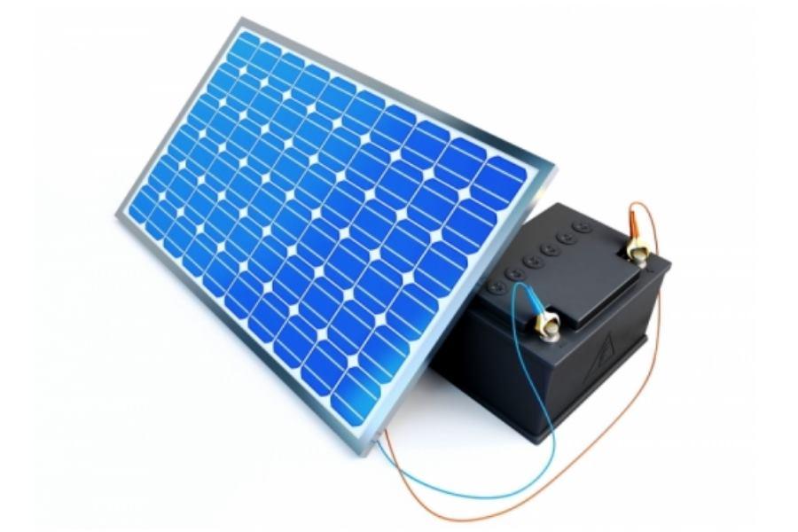 Zonne Energie Opslaan Met Accu Voor Zonnepanelen