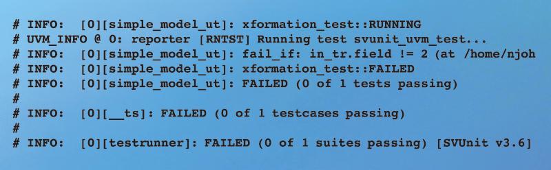 Figure 7 - Failing log output