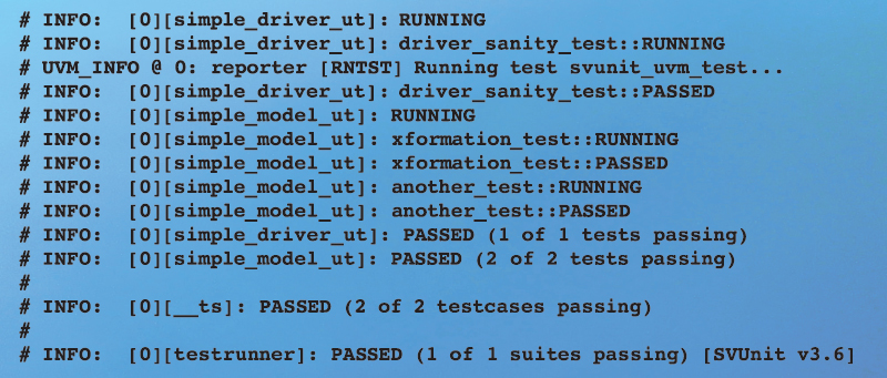 Passing log output for multiple unit test templates