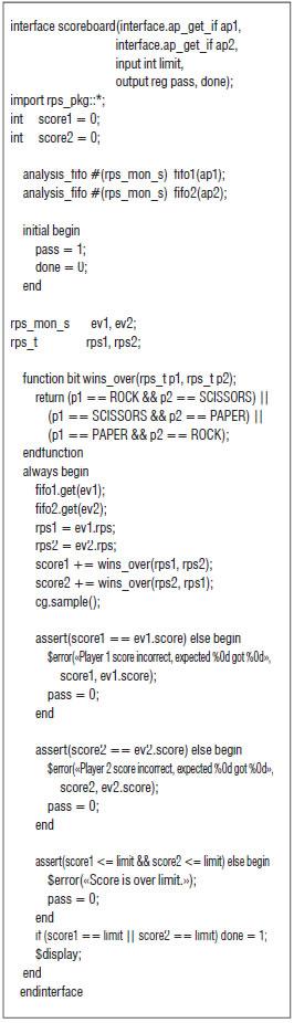 Example Scoreboard