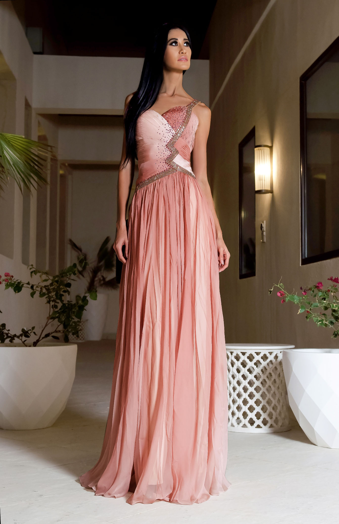 56b259a43c3c Tender Breeze - Pink long evening dress