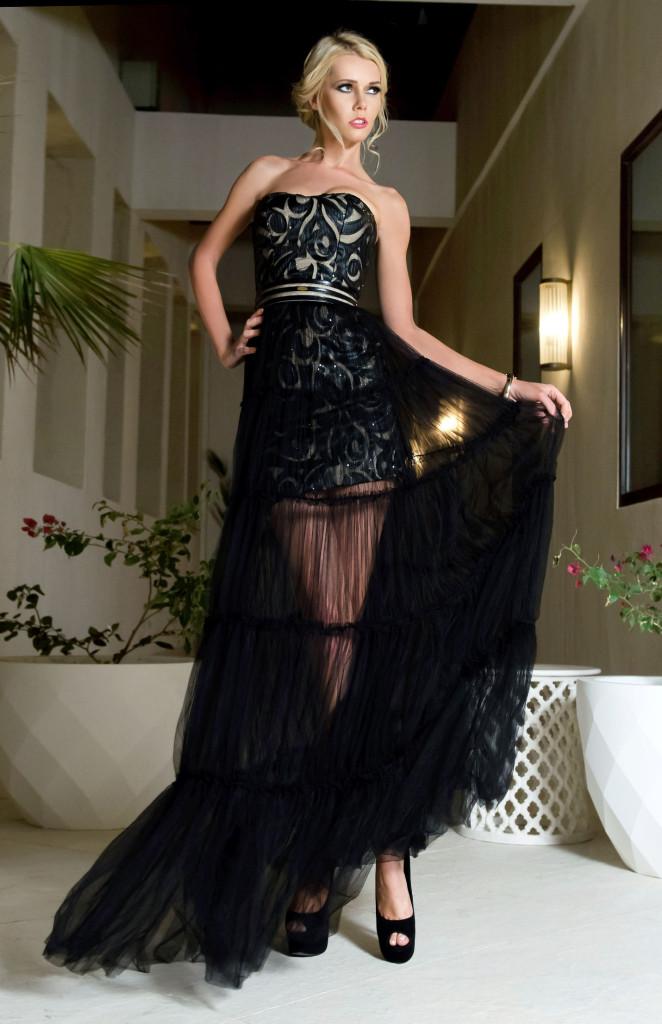 detachable long dress