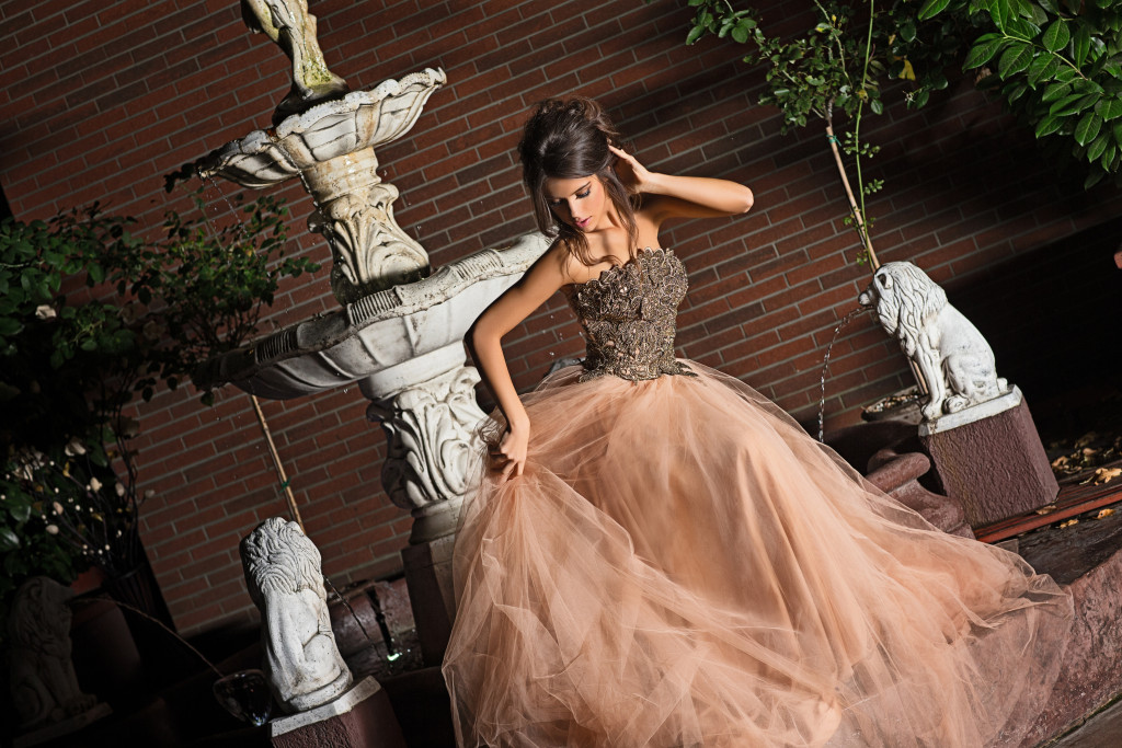 Gorgeous princes-like gowns for a real-life fairy tale event