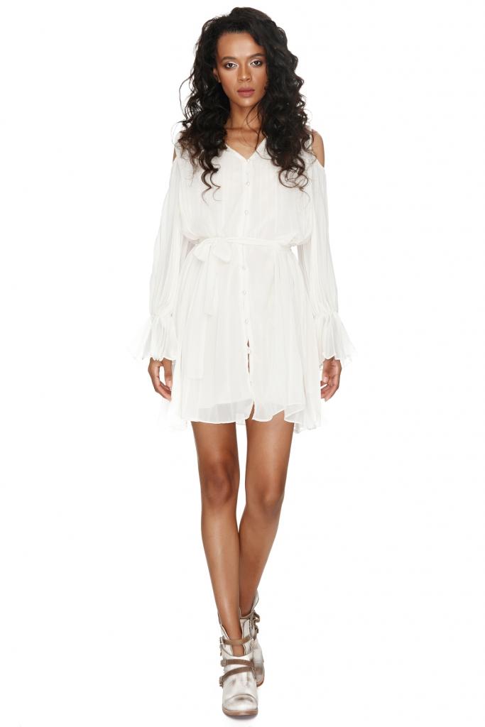 vero-milano-pleated-white-dress