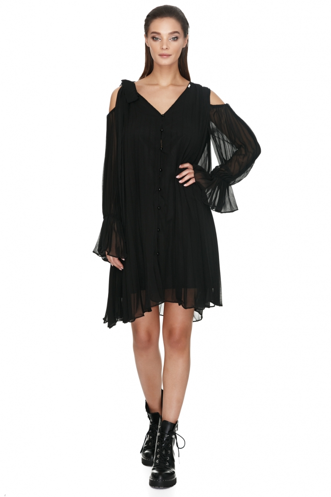 vero-milano-little-black-pleated-dress